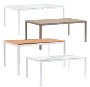 Dining Table 240x100 Glass, Ceramic or Synteack Top